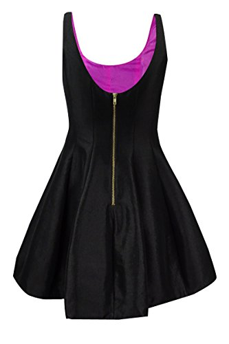Sleeveless Fuschia Mini Taffeta amp; Betsy Dress Adam Womens Black IOB78T