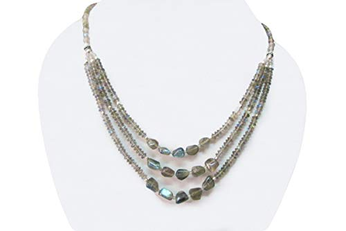 (Labradorite Multi Strand Beads Necklace Jewelry 16