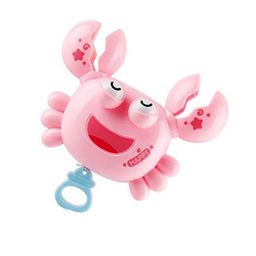 QinFeng Baby Bath Toy Little Crab Pull String Bath Toy Floating Toys Water Toys .Safe Toys for Toddlers, Babies(Pink)