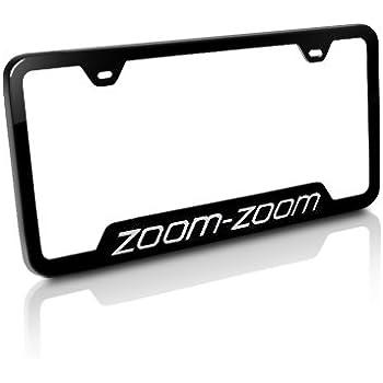 Amazon.com: Mazda Zoom-Zoom Black Steel License Plate Frame ...