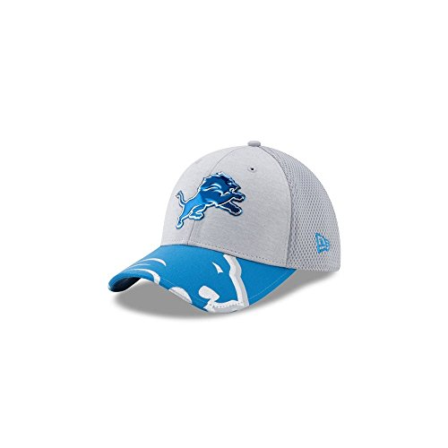 (New Era NFL Detroit Lions 2017 Draft On Stage 39Thirty Stretch Fit Cap, Medium/Large, Gray)