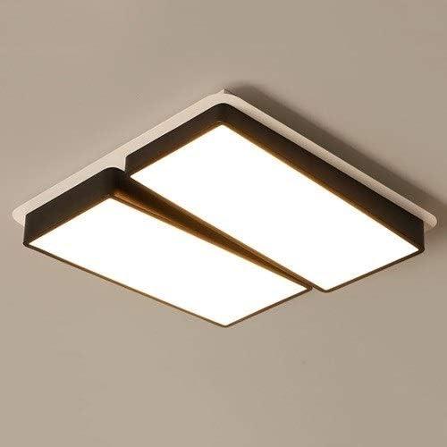 Aiqiyi Atmosphère Maison Chambre Lampe Chambre Lampe Maison Chaud Romantique Plafonnier Lampe De Salon Simple Moderne Carré Forme LED Plafonnier LED Lumière Chaude (Taille : 60×60×8cm)