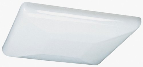 2 Light Fixtures Lithonia Low Profile 12 Fluorescent Square Lights 22 Watt ()