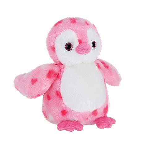 Bearington Precious Heart Pink Valentines Plush Penguin Stuffed Animal, 9 Inches