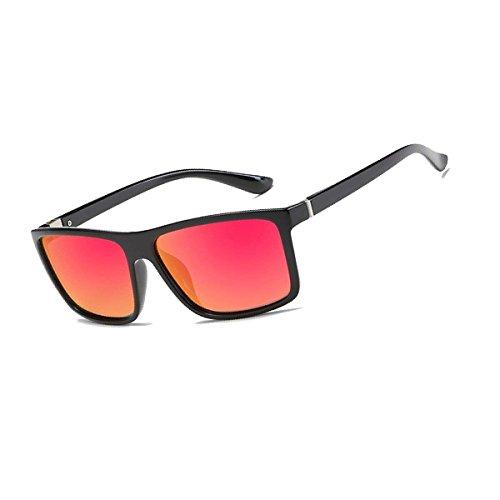 Black Red Gafas sol hombre With Bolara de Frame para Lens fpwXBq