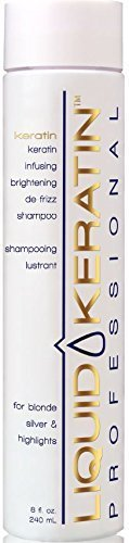 Liquid Keratin Infusing Brightening De-Frizz Shampoo for Blonde / Silver & Highlights, 8 fl. oz.