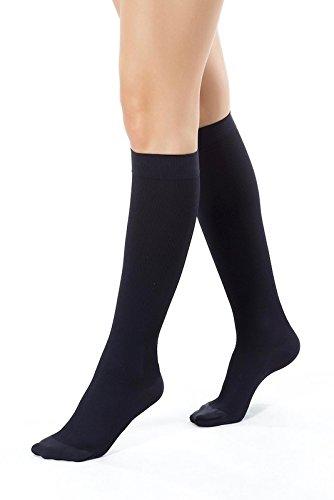 aspetto estetico modelli alla moda vendita economica ®BeFit24 Calze elastiche a compressione graduata (15-21 mmHg, 140 Denari,  Classe 1) per donna - Gambaletti antitrombo lunghi - Compression socks - [  ...