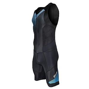 Men's KONA Triathlon Race Suit – Speedsuit Skinsuit Trisuit Sleeveless