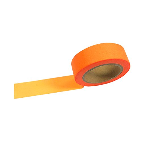 AllyDrew Washi Tapes Decorative Masking Tapes, Fluorescent Orange