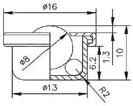 Chavis 10 PCS Dia 8mm Ball Metal Transfer Bearing Unit Conveyor Roller CY-8H