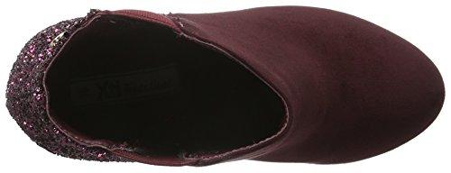 XTI Carmela 30272 - Botas de caña baja con forro cálido y botines para mujer Rojo (Burgundy)