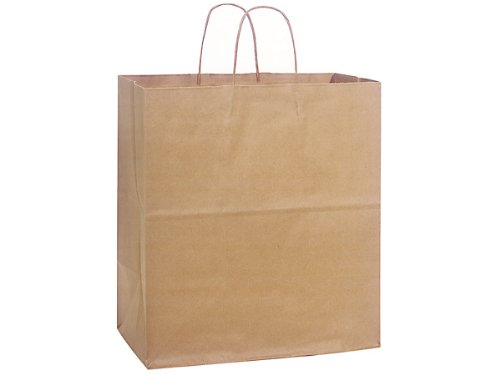 Pack Of 200, Regal 14.5 X 9 X 16.25'' 100% Recycled Brown Kraft Paper Bags Solid Made In USA