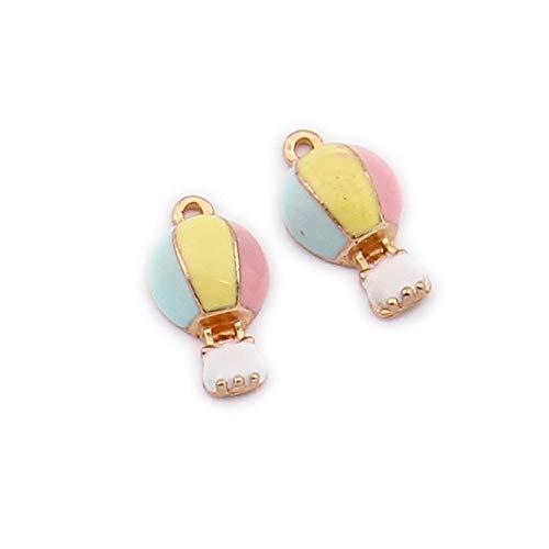 M336-E 9pcs New Cute Assorted Little Hot-air Balloon Shoe Bracelet Charms Pendants Wholesale -