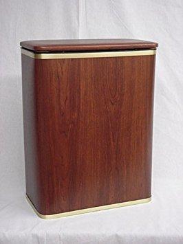 Redmon Woodgrain Vinyl Hamper, Oak/Gold ()