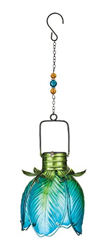 Regal Art & Gift Solar Flower Lantern - Blue Iris
