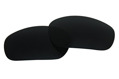 Polarized Replacement Sunglasses Lenses for Oakley Racing Jacket with UV Protection (Black, Non-vented)