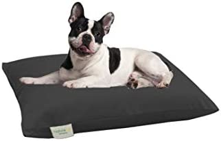 NaturoPet Natural Orthopedic Dog Bed, Premium Organic Cotton Virgin Wool Soft Cushion Pet Mattress Removable Washable Cover Indoor Durable Chew Resistant Made in USA