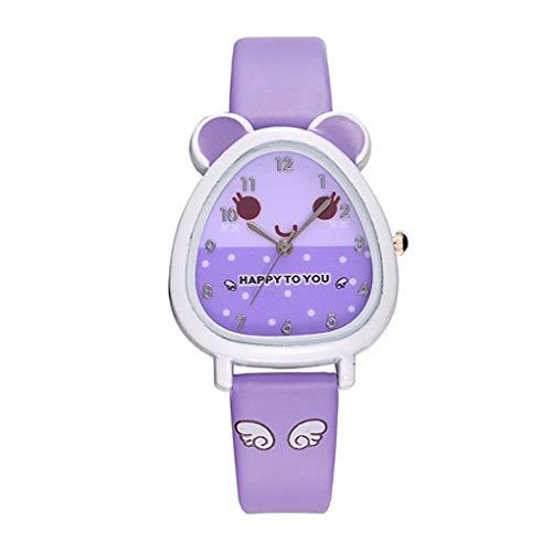 Children Cartoon Quartz Band WatchBoy Analog 3D Bear Buckle Wrist Watch Student Kids Teacher Lovely Wrist Clock Timer