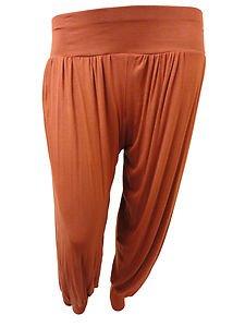 da4beda756c Xclusive Collection New Ladies Rust Full Harem Trousers Plus Size Hareem Pants  Leggings Size - 12