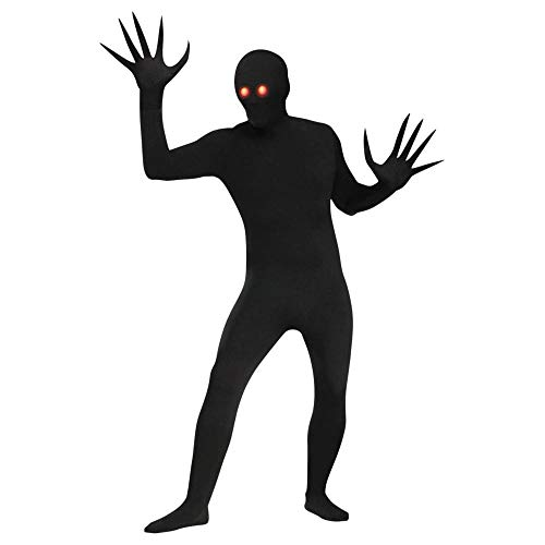 Halloween Costumes For Pale People (Fun World Men's Fade Eye Shadow Demon Skin Suit Adult Costume, Black, Plus)