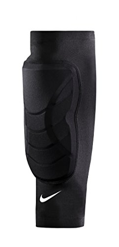 Men's Nike Hyperstrong Padded Shin Sleeves Black/White Size Small/Medium