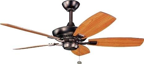 Kichler 300117TZ 52-Inch Canfield Fan, Tannery Bronze
