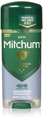 Mitchum Men Gel Antiperspirant Deodorant, Unscented, ()