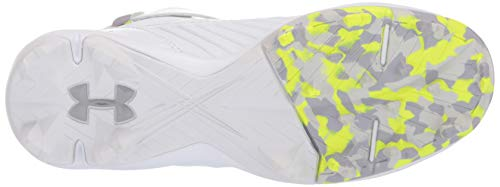 Under Armour Boys' Harper 3 Mid Jr. RM Baseball Shoe, (100)/White, 1.5 by Under Armour (Image #3)