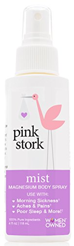 Pink Stork Mist: Magnesium Spray for Morning Sickness & Nausea Relief -Promotes Energy Levels, Sleep Quality & More -Reduce Anxiety and Irritability -Organic Dead Sea Magnesium and Purified Water