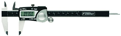 Fowler Full Warranty Stainless Steel Frame Absolute Economy Digital Caliper, 54-100-112-2, 0-12
