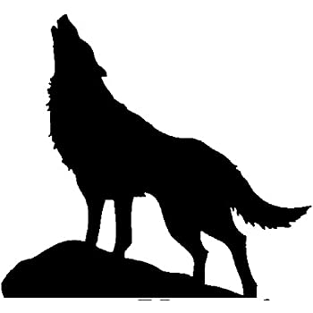 Amazon Newclew HUGE HOWLING WOLF Silhouette Removable