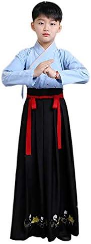 Ez-sofei پسران چینی باستانی سنتی Hanfu لباس کودکان و نوجوانان Cosplay لباس لباس دامن 2 قطعه