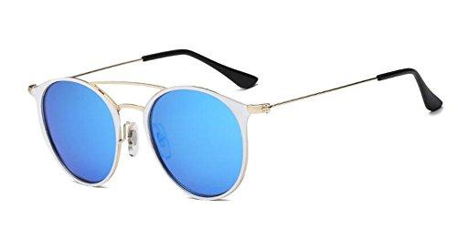 polarisées rond du F style cercle en Lennon soleil vintage inspirées métallique retro de lunettes EOAq6A