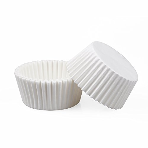 able Baking Paper Cups Cupcake Liners Muffin Cups (White Mini Muffin)