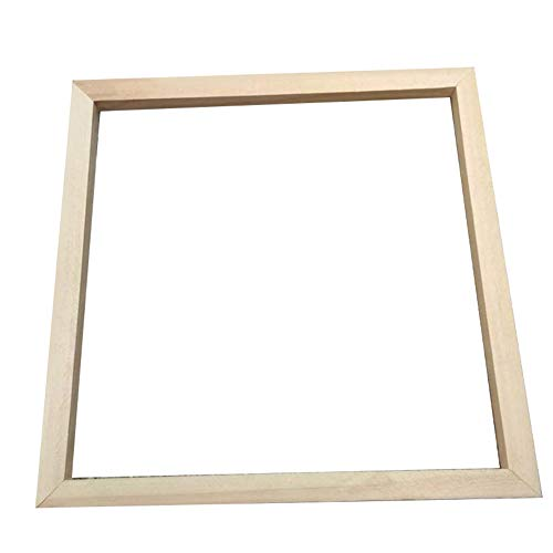 Wall Mount Frame Kit - Baost 4 Sticks/Set DIY Solid Wooden Picture Frame Wood Canvas Frame Kit Easy to Build Wall Mount or Table Top Photo Frame for Wall Art Picture Oil Painting Canvas Artwork 3030cm
