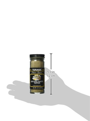 Terana Ground Black Pepper, 2.39 Ounce