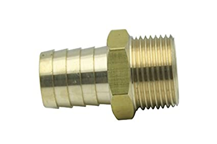 Generic Brass Barbed Fitting Coupler/Connector 1 Male BSPT x 1(25mm) Hose Barb Fuel Gas Water (Pack of 5) HuaxinYicheng Trade Co. Ltd.
