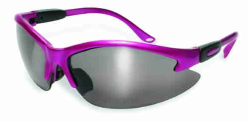 SSP Eyewear Womens Safety Glasses with Metallic Pink Frames and Mirrored Lenses, COLUMBIA PK M
