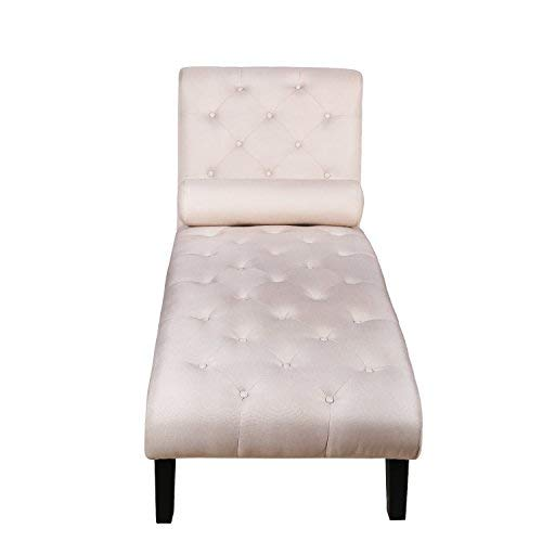 Harper&Bright Design PP038724AAA Chaise Lounge Home Office Leisure Couch Sofa Chair Button Tufted Living Room Furniture