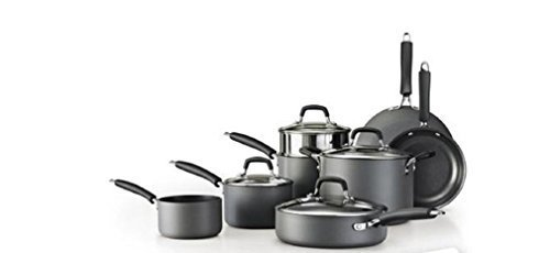 Tramontina 12-Piece Gourmet Hard Anodized Cookware Set by Tr