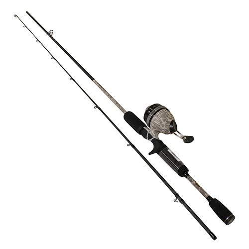 Lews Fishing, American Hero Camo Speed Spin Spinning Combo, 3;:1 Gear Rtio, 6' Length, 2 Piece. Medium Power, Ambidextrous (Camo Fishing Pole)