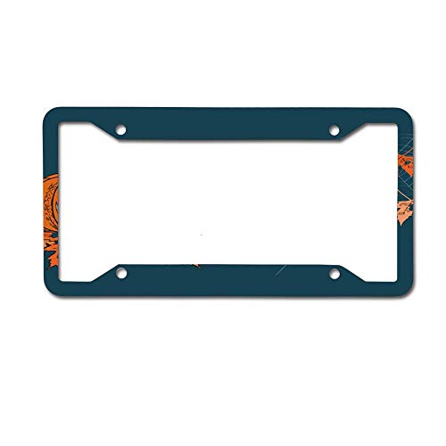 NOCITUN Tag Frame -Novel License Plate Frame 12×6 inch Halloween Pumpkin with A Carved]()