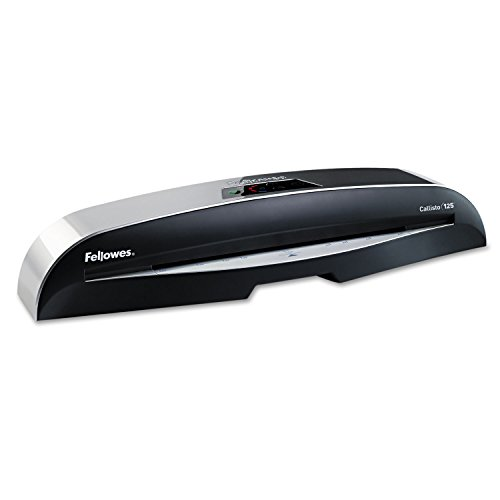 Fellowes Laminator Callisto 125, 12.5 Inch Laminating Machine, with Laminating Pouches Kit (5729101)
