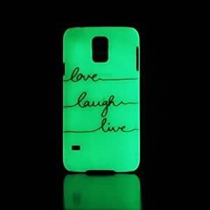 HJZ Phrase Pattern Glow in the Dark Hard Case for Samsung Galaxy S5