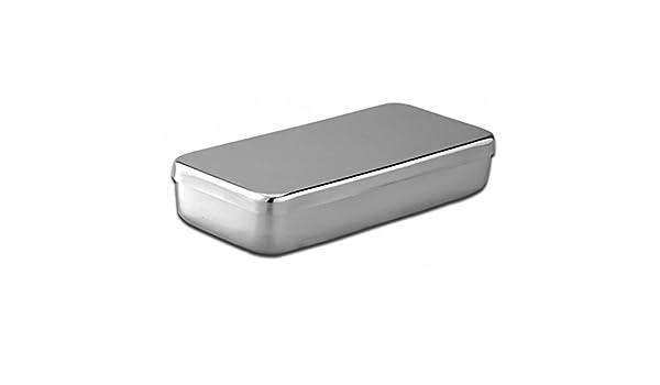 Caja acero inoxidable 18 x 10x 3 cm-Unidad: Amazon.es: Salud y ...