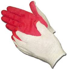 Red Latex Rubber Palm Coated Safety Work Gloves 300 Pack by Safety Grip Gloves (Image #2)