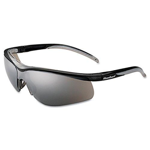 KleenGuard V40 Contour Eye Protection, Black Frame/Silver Mirror - Kleenguard Contour Eye Protection V40