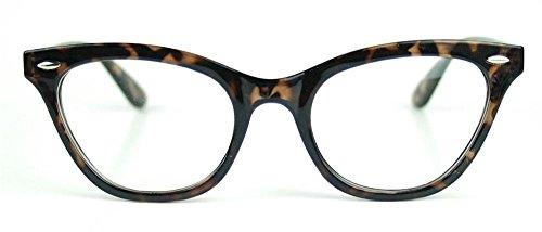 Cat Eye Wayfarer Style Gradient Two Tone Plastic Frame Women Eyeglasses Glasses (Tortoise, - Eyeglass Female Frames