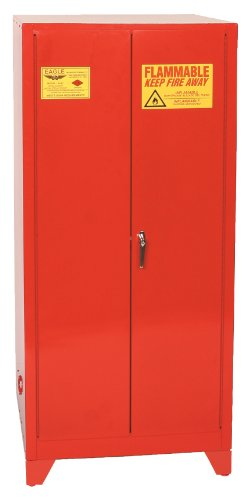 """Eagle PI-62LEGS Safety Cabinet for Paint & Ink, 2 Door Manual Close, 96 gallon, 69""""Height, 31-1/4""""Width, 31-1/4""""Depth, Steel, Red"""
