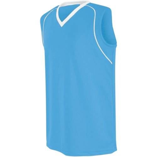 Women's/Girls Athletic Sports Jersey Moisture Management, Rib-Knit V-Neck Sleeveless Shirt (Uniform Softball, Soccer, ()